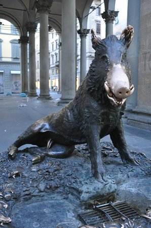 Hotel Rivoli: The famous Boar in Florence