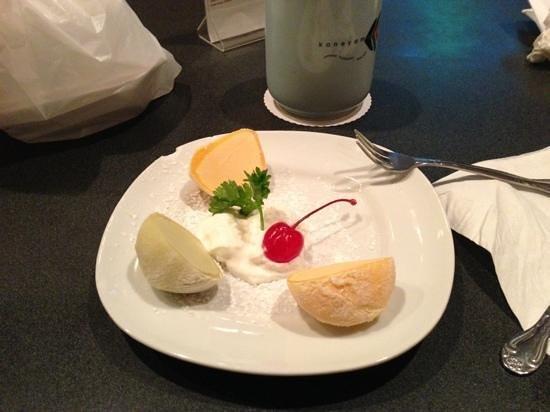 Kaneyama Japanese Restaurant: mochi ice cream, very delicious!