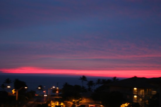 Worldmark Kihei: Sunset from room 8309