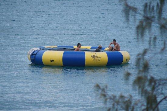 Fitzroy Island Resort: floating trampoline
