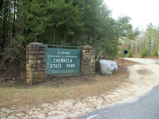 Chewacla State Park: sign at entrance to park