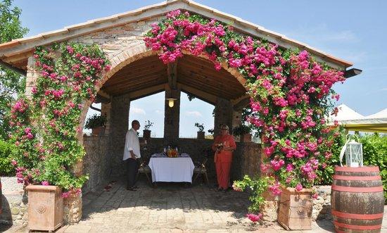 Villa Sant'Andrea: Outdoor dining area