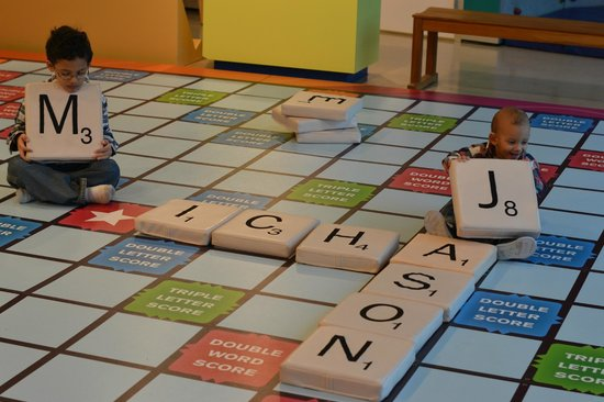 Mississippi Children's Museum: Giant scrabble board! My favorite!