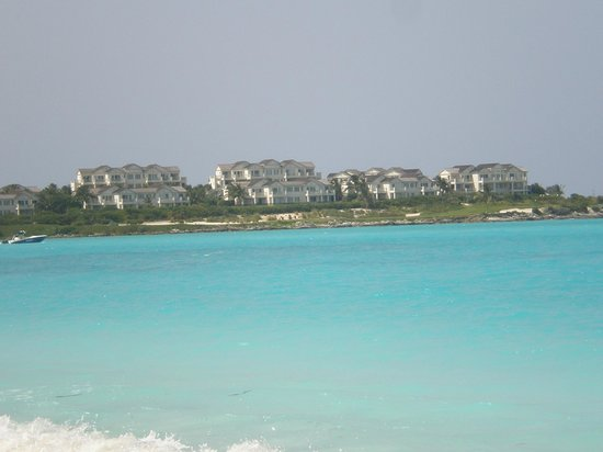 Grand Isle Resort & Spa: View of the resort from the beach near Sandals