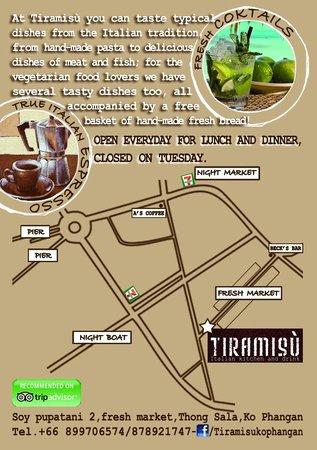 Tiramisu : mappa