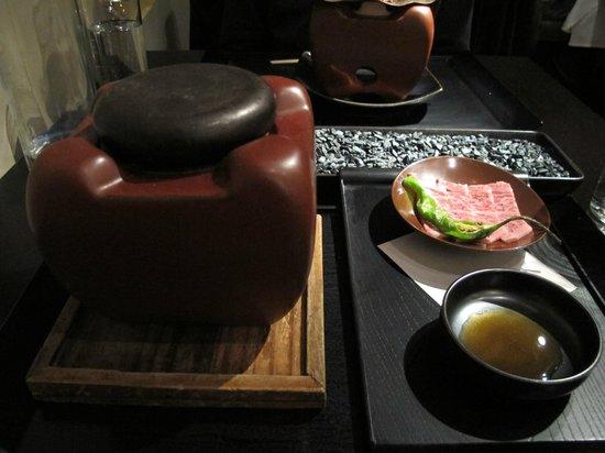 n/naka: 13-course - wagyu beef