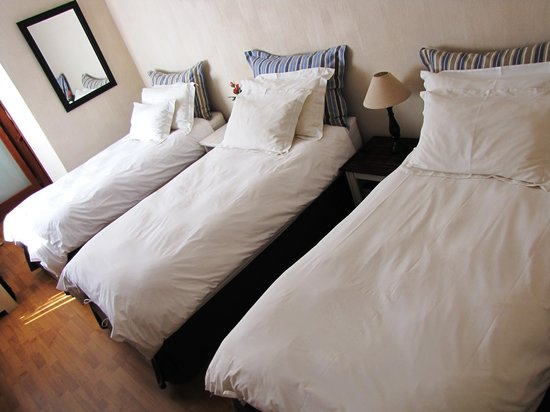 Sandfields Guesthouse: Triple room (3 single beds)