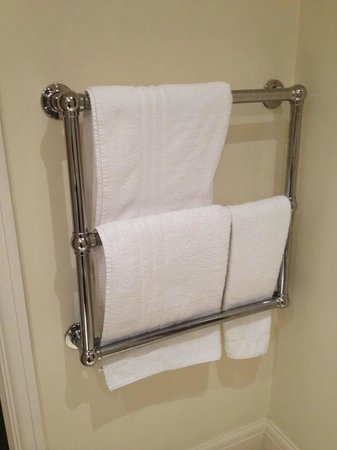 The Royal Park Hotel: Heated railings to heat up your towel.