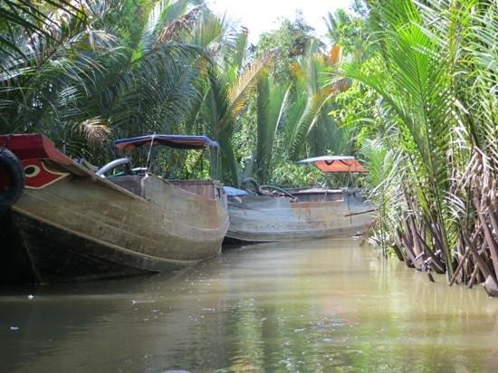 Footprint Vietnam Travel Day Tours: mekong varen door de kanalen