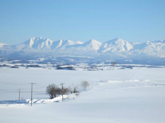 Biei Potato no Oka : クロスカントリーのツアーで撮った写真/雪の十勝岳
