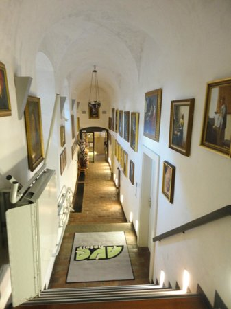 Hotel Monastery: reception down from the street level, with access for people with disabilities