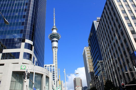 Skytower, Auckland. 328 m tall, this spire offers spectacula​r views of the harbour and the city (55073520)