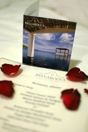 Bellarocca Island Resort and Spa: menu with love