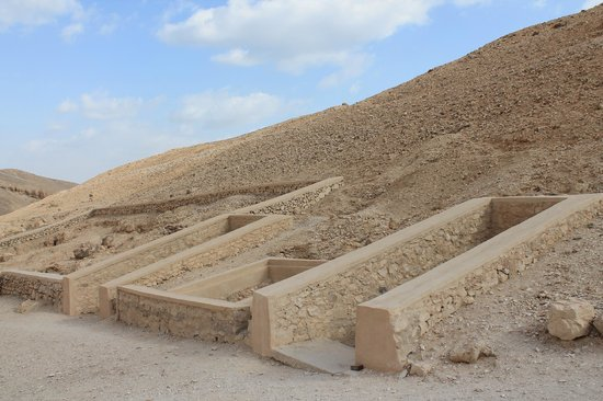 Valley of the Queens: The entrances to some chamber tombs