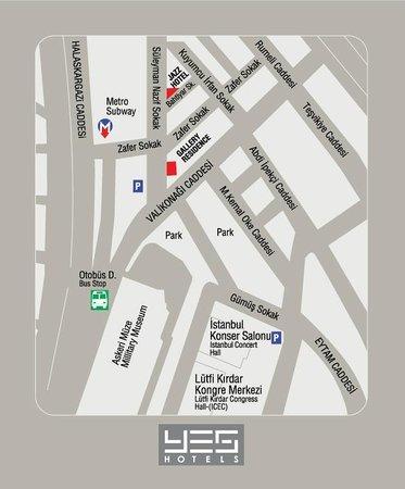 Jazz Hotel: Hotel map