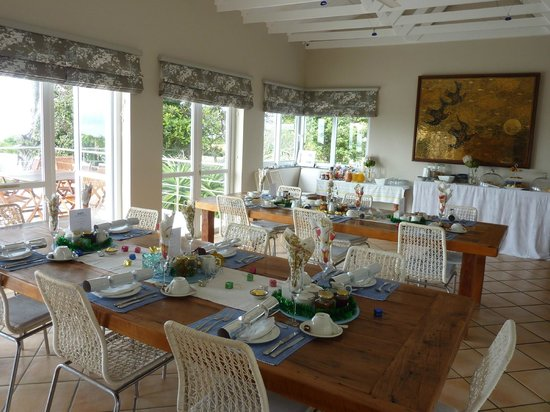 Abalone Guest Lodge: Frühstückstisch 25. Dezember