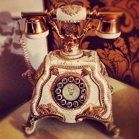 Deluxe Golden Horn Sultanahmet Hotel: Telephone in our room ;-)