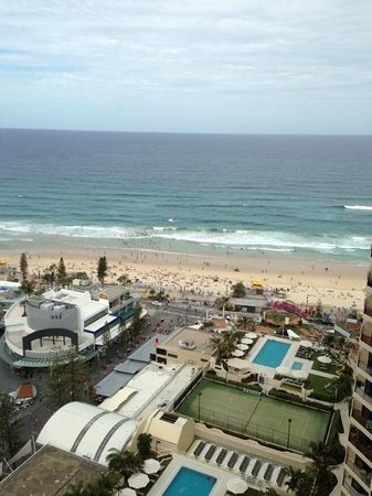 Hotel Grand Chancellor Surfers Paradise: View from 30th floor balcony
