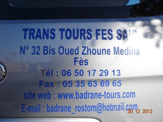 Badrane Tours: useful info for next time