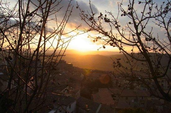 La Fenice Park Hotel: View over Massa at sunset