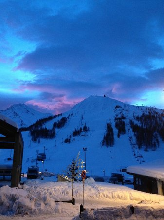 Xmas Eve 0700 hours - view from room 118 Hotel Cristallo, Sestriere, Italy