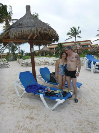 Grand Bahia Principe Tulum: Hermosa    playa..!!
