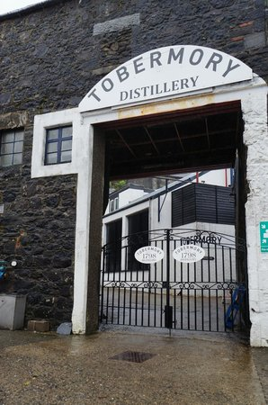 Tobermory Distillery: Entry to the distillery