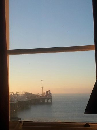 Royal Albion Hotel-Brighton: View from the room - Looking to the left, the pier.