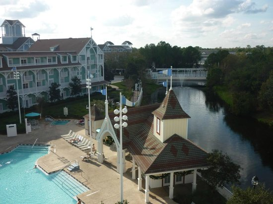 Disney's Beach Club Villas: View from studio villa room (top floor)