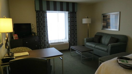 Hampton Inn & Suites by Hilton Halifax - Dartmouth: Living area in our room
