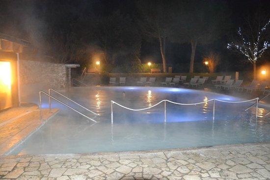 San Giovanni Terme Rapolano : Piscina di sera