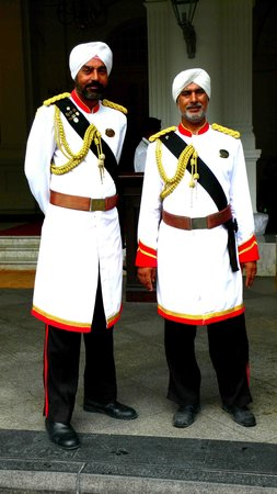 Raffles Hotel Singapore: The doormen