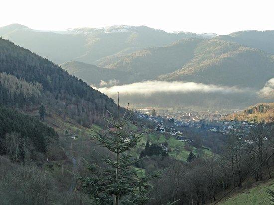 Auberge du Mehrbachel: la vue sur la vallée de la Thur