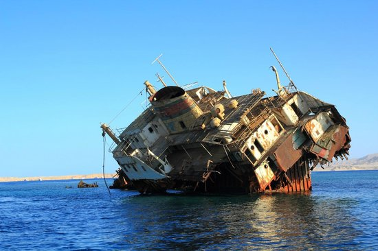 Nabq Bay, Egypt: Russian shipwreck 1