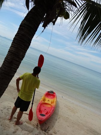 The Passage Samui Villas & Resort: about to go kayaking