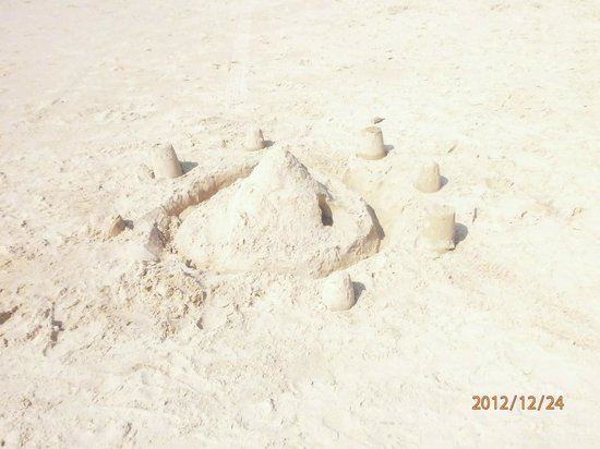 Sand Castles by Kids at Candolim Beach