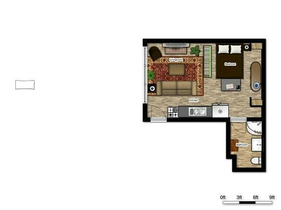 Kara's Kottages : Floor Plan For Pine Cone Kottage