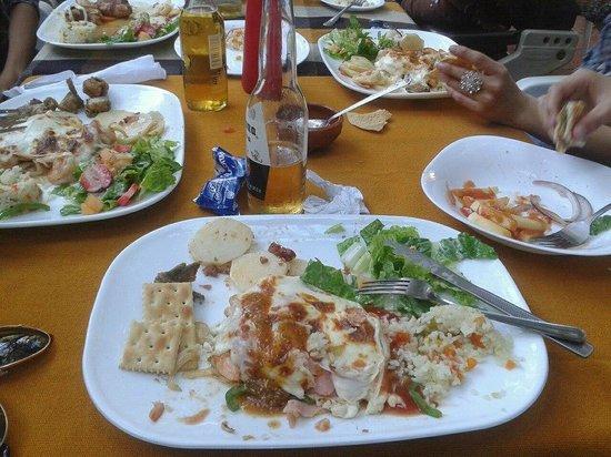 Brisenas, เม็กซิโก: Los deliciosos Camarones Gratinados