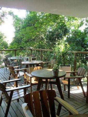 Quinta Azul Boutique Pousada: 緑の茂るテラス