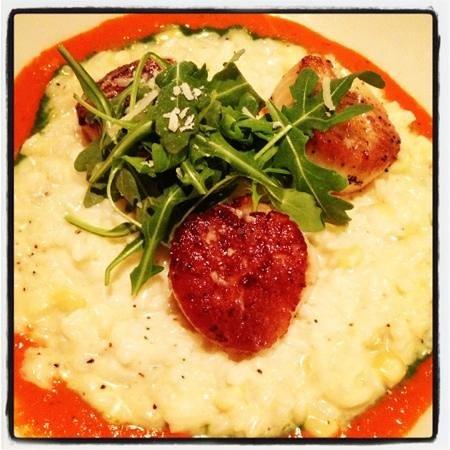 Cafe Terigo: scallops over sweet corn risotto