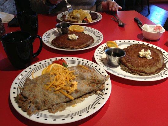 Elvira's Cafe: Breakfast scramler wrapped in a crepe w/ buckwheat pancake