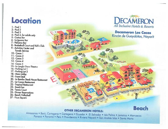 Decameron Los Cocos: Hotel Map