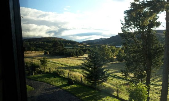 Crubenbeg House: View from the bedside windows