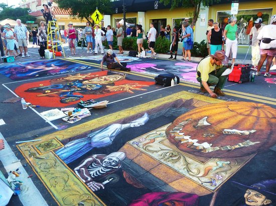 Calini Beach Club: Sarasota CHALK FEST....