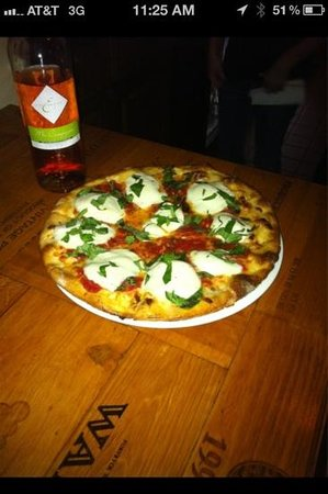 La Piazza: fresh mozzarella and basil.
