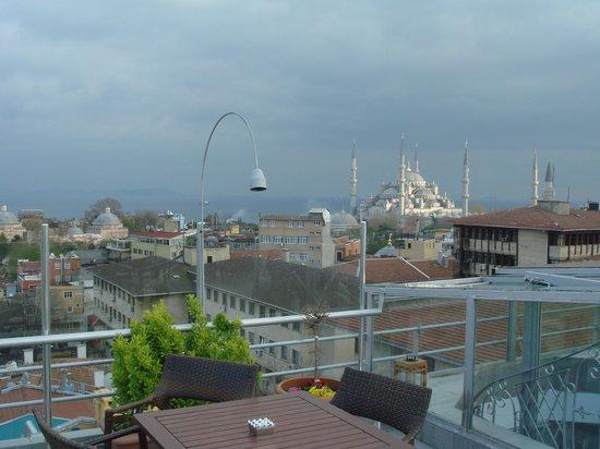 Adamar Hotel: Vista desde la terraza