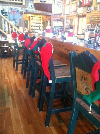 Snowy Mountain Inn Greer: Scoreboards bar