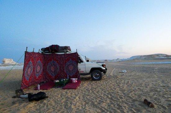 Ahmed Safari Camp & Hotel: our campsite at White Desert
