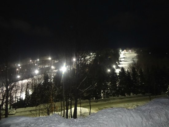 Holiday Valley: One section of the mountain on New years eve! near Tannenbaum Lodge.