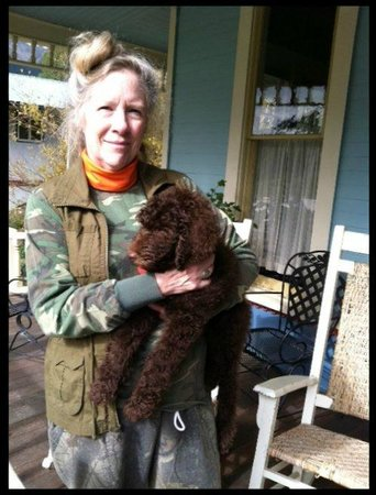 The Animas B&B at the Wingate House: Owner w/puppy on front porch